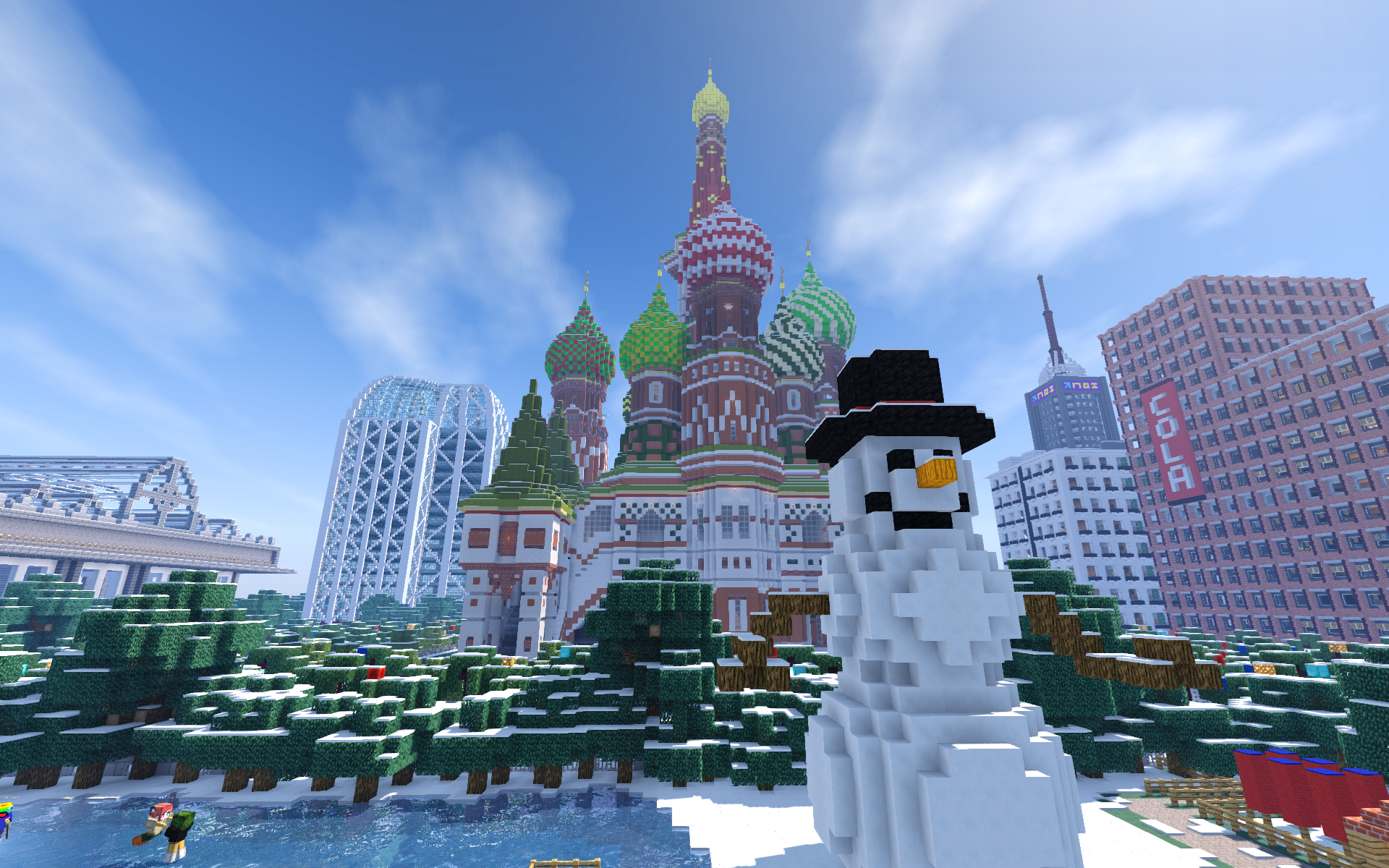 Nitrado Minecraft Winter Event 2016 Schneemann