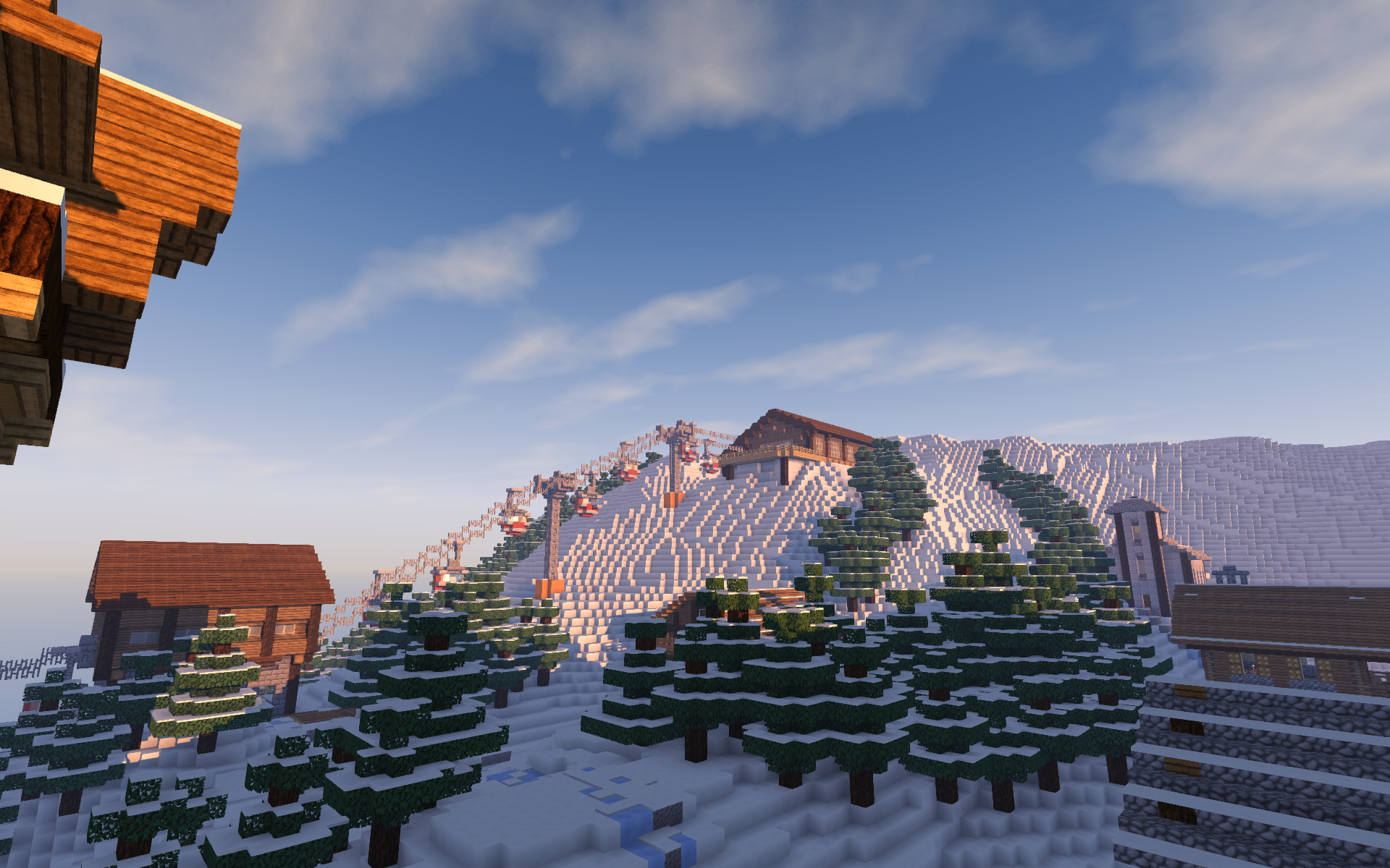 Nitrado Minecraft Winter Event 2016 Seilbahn