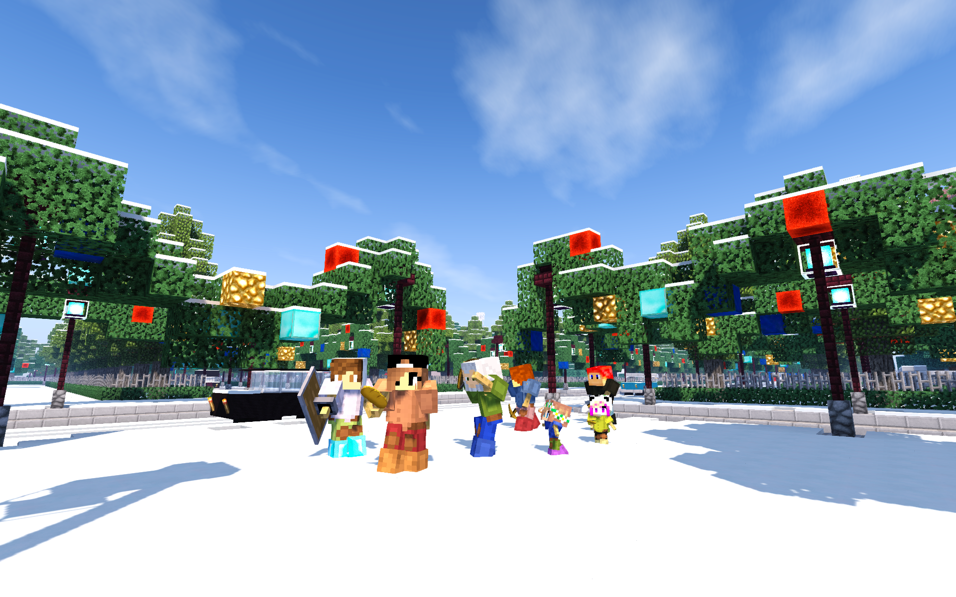 Nitrado Minecraft Winter Event 2016 Team