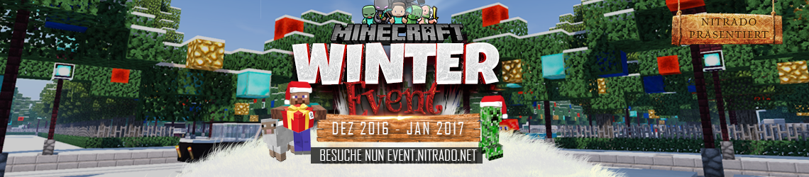 Nitrado Minecraft Winter Event 2016 Banner