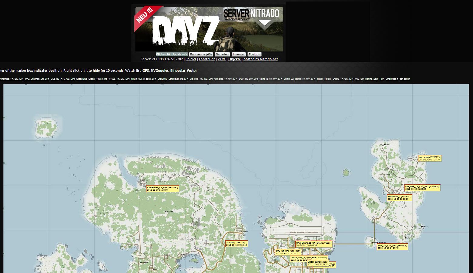 DayZ Mod Taviana Maps