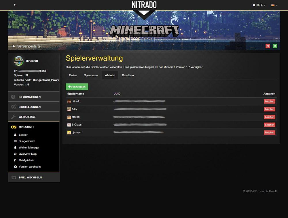 Minecraft Bukkit Spigot Gameserver Mieten Nitradonet - Minecraft server erstellen 1 8 bukkit