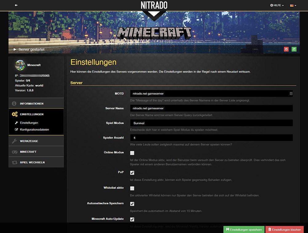 Minecraft technic platform gameserver mieten nitrado net