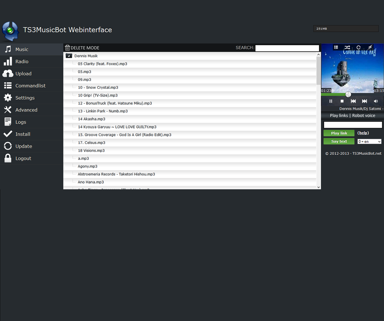 Teamspeak 3 Music Bot Screenshot-3