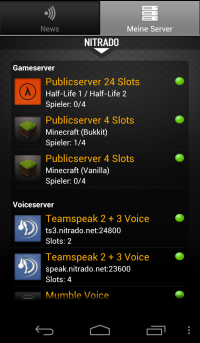 Nitrado Server Manager v2 Update Screenshot